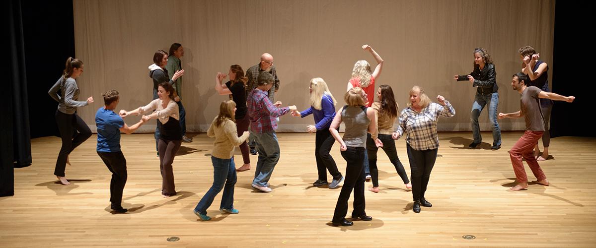 Artivists performing